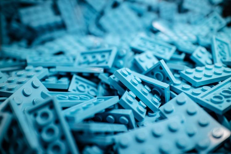 Consultor de marketing online - piezas de Lego