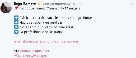 Tuit de Bego Romero