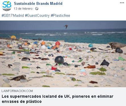 Publicación en Facebook de Sustainable Brands Madrid